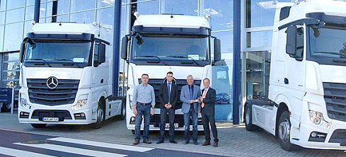 22 neue Mercedes-Benz Actros in Euro 6